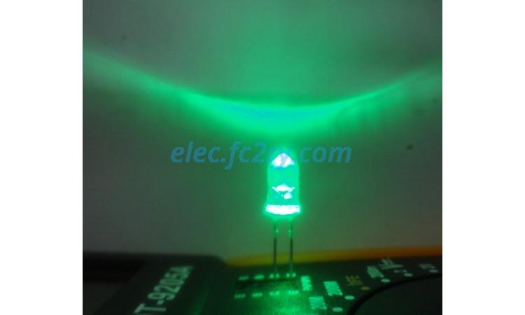 LED 5 มม. ซุปเปอร์ไบรท์ เขียว - Eshop อะไหล่อิเล็กทรอนิกส์