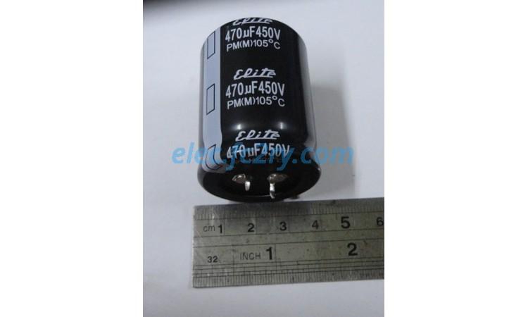 capacitor 470uf/450v - Eshop อะไหล่อิเล็กทรอนิกส์